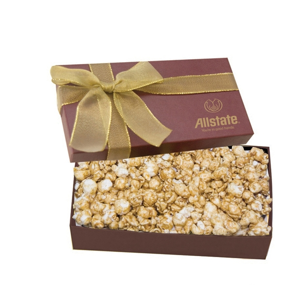 Item #GB2A-POPCORN Executive Popcorn Christmas Food Gift Box - Caramel Popcorn