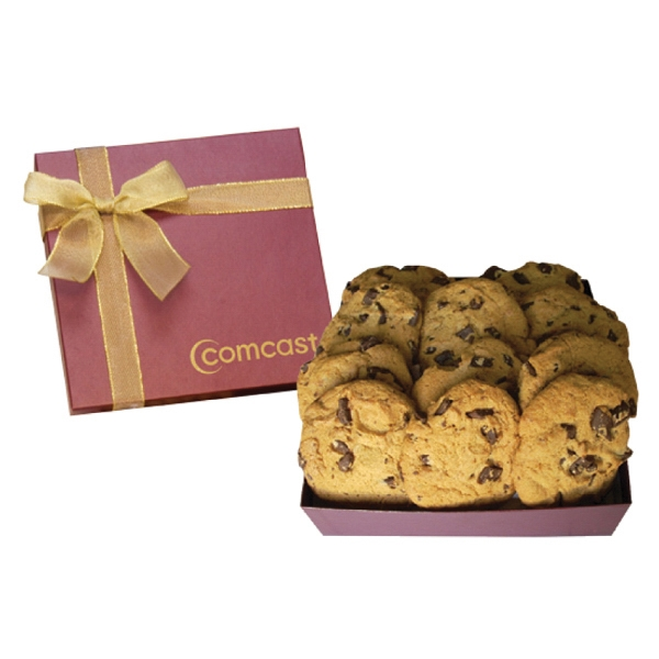 Item #GB4G-BAKERY Chairman Cookie Gift Box w Large Chocolate Chip Cookies