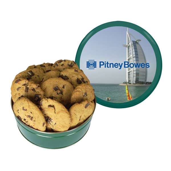Item #GT3G-BAKERY Cookie Tin with Large Chocolate Chip Cookies