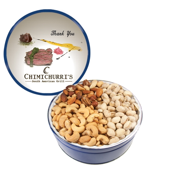 Item #GT2-C-NUTS The Royal Tin with Mixed Nuts, Pistachios, and Cashews