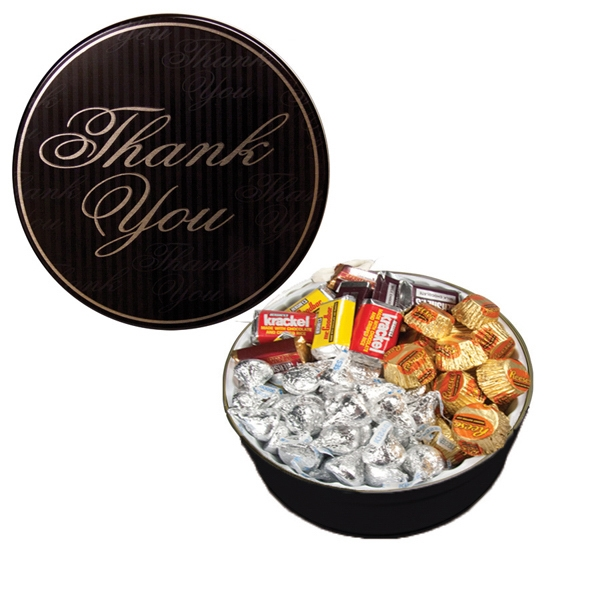 Item #GT1DTY-HERSHEY The Grand Tin with Hershey Chocolates - Thank You Design