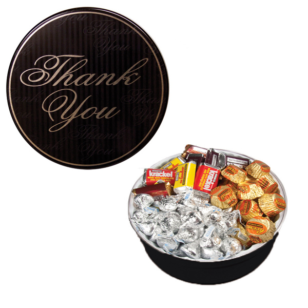 Item #GT2A-TY-TINS The Royal Tin with Hershey Chocolates - Thank You Design