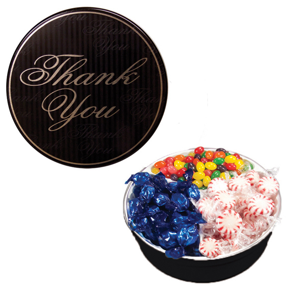 Item #GT2D-TY-TIN The Royal Tin with Mints, Jelly Beans & Hard Candy-Thank You