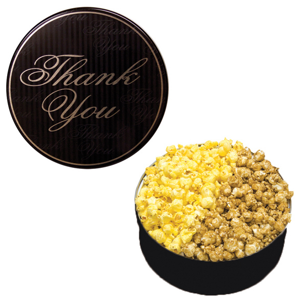 Item #GT3A-TY-THANK The King Size Popcorn Tin-Thank You Design