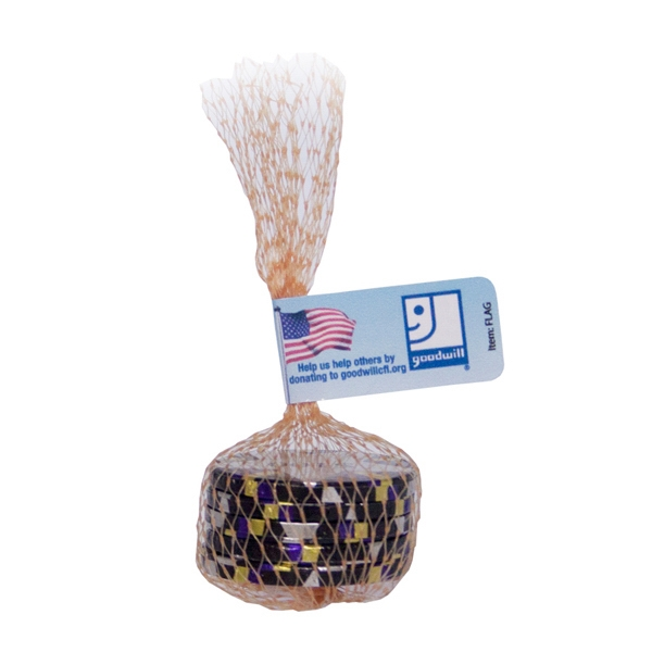 Item #MESH-BAG-POKER Mesh Bag with Chocolate Poker Chips Candy