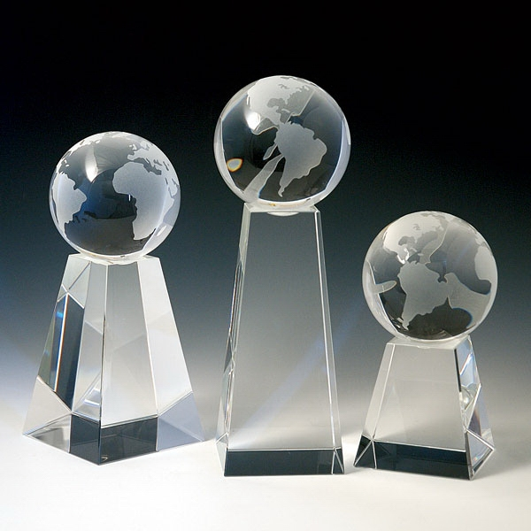 Item #CT-531GL Crystal Globe Awards