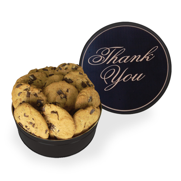 Item #GT3GTY-COOKIES The King Size Cookie Tin - Thank You Design - Cookies
