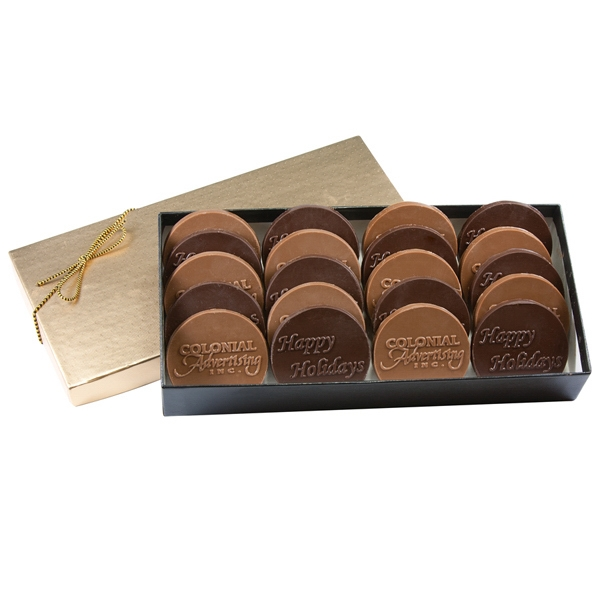 Item #MVP 6 Custom Round Cookies in a Hot Stamp Gift Box
