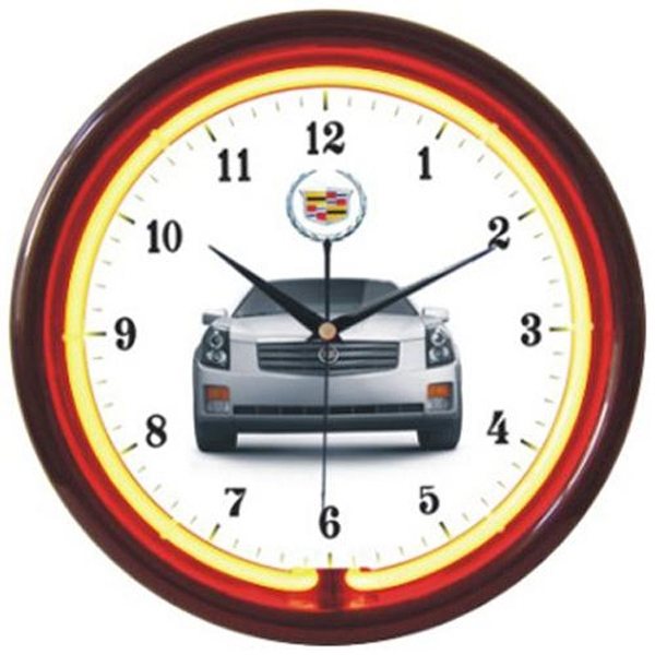 "Item #AD-896 12"" diameter single-color neon wall clock"