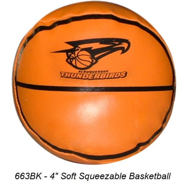 "4"" Soft Squeezable Basketball"