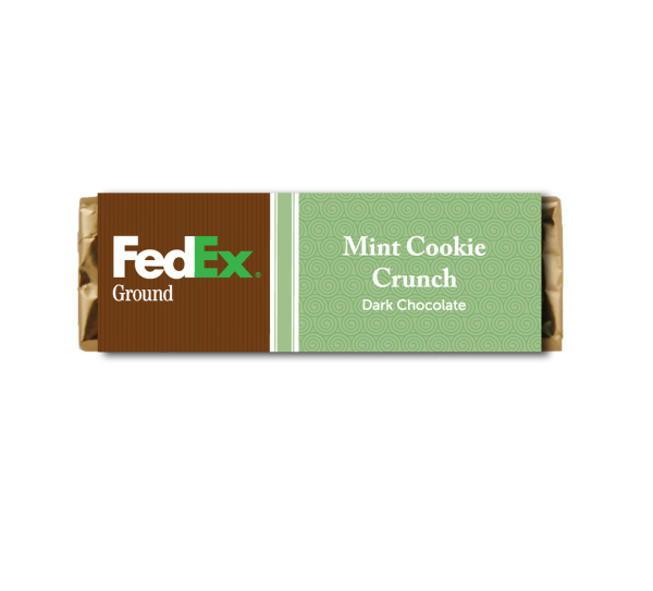 Item #CHOC-BAR-D-MCC Candy Bar - Mint Cookie Crunch Dark Chocolate Bar