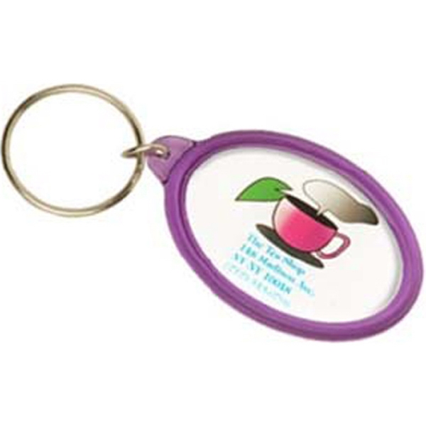 Item #3899 Infinity Color Oval Shape Key Tag
