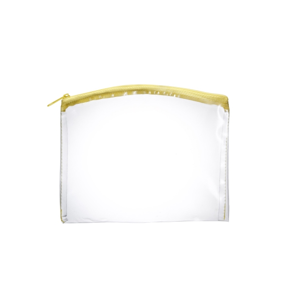 Item #AW-051Y Arched Top Clear Zippered Pouch