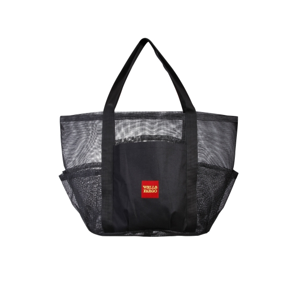 Item #AW-466 Heavy Vinyl Mesh Shoppers Tote