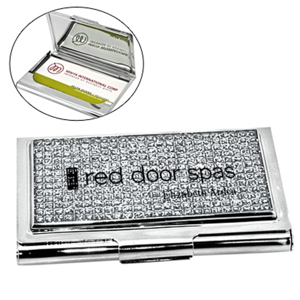 Item #HY-6015 Glitter Stone Business Card Case