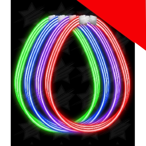 Item #AC891 22 Inch Super Wide Glow Necklaces - Assorted Light Up