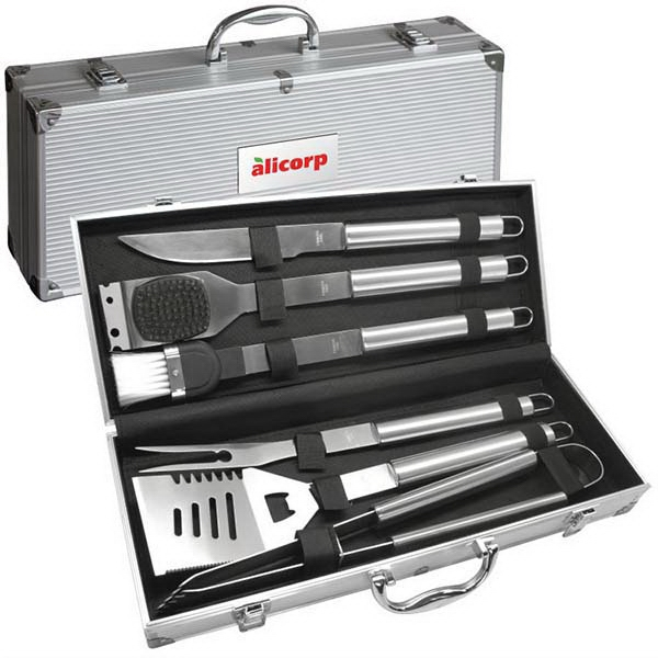 Item #BBQ06 Deluxe 6 pc BBQ Tool Set