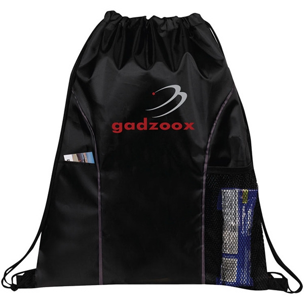 Item #DB145 Vernon Dual Pocket Drawstring Bag