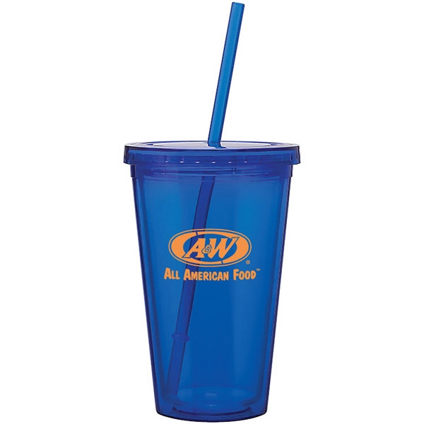 Item #SM088 Clearwater Colors - 16 oz Acrylic Tumbler