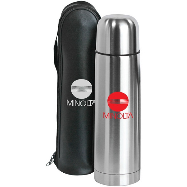 Item #SM525 Clayton - 17 oz Bullet Stainless Steel Vacuum Bottle
