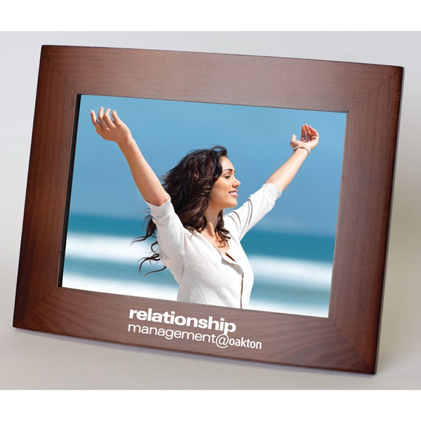 Item #WF5X7 Ferrara - Walnut Finish Photo Frame