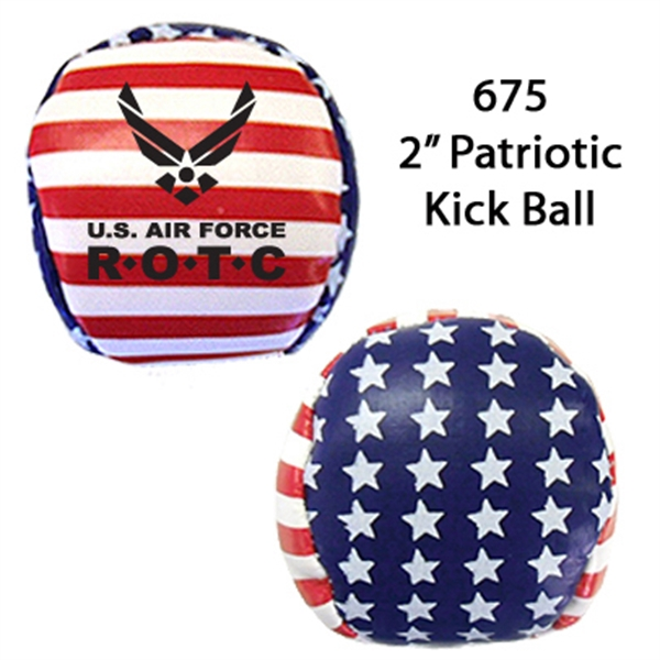"Item #675 BALL FLAG Patriotic Kickball 2"" - E675"