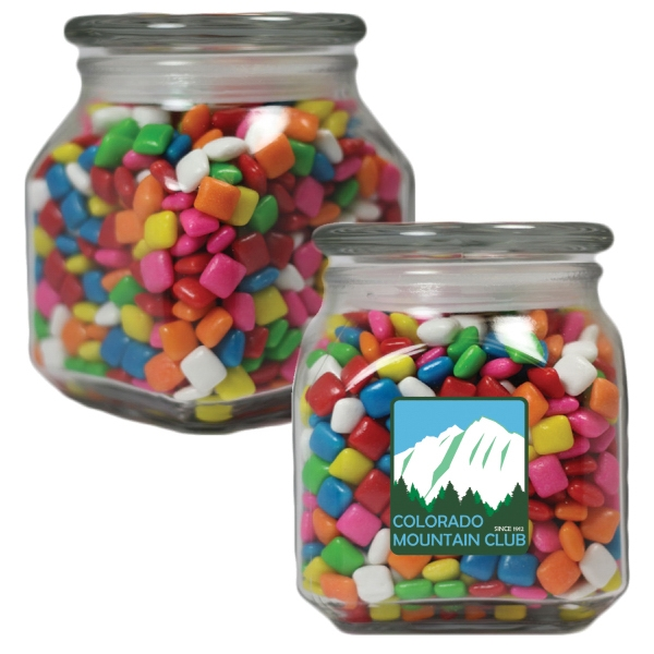 Item #MSCJ20-GUM-JAR Glass Apothecary Candy Jar with Chicle Chewing Gum