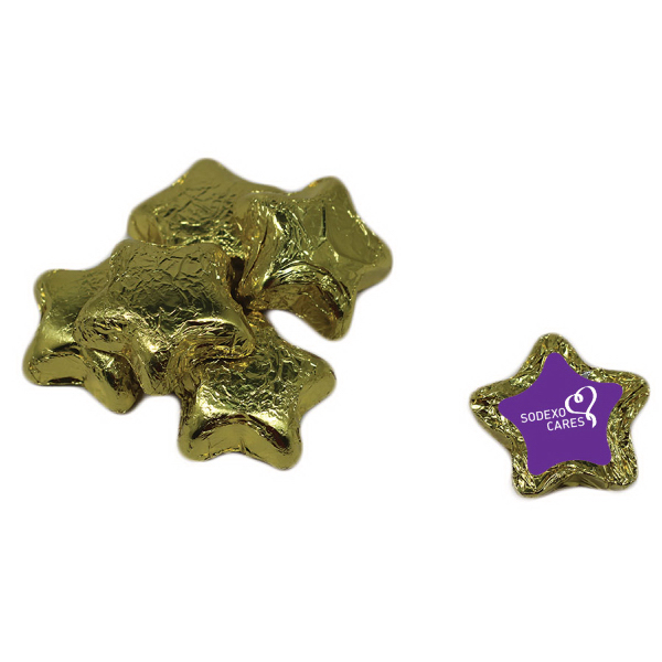 Item #CANDY-STAR Chocolate Stars - Gold