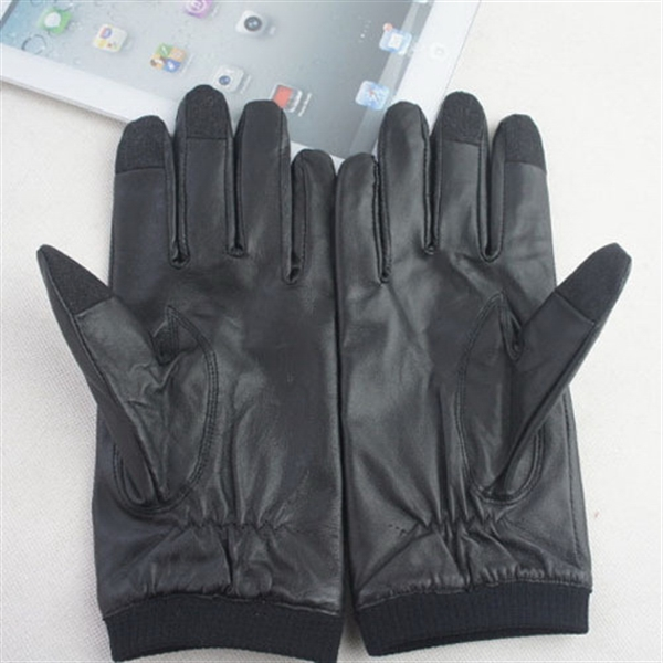 Item #DW-2009 Leather Touch Screen Stylus Gloves