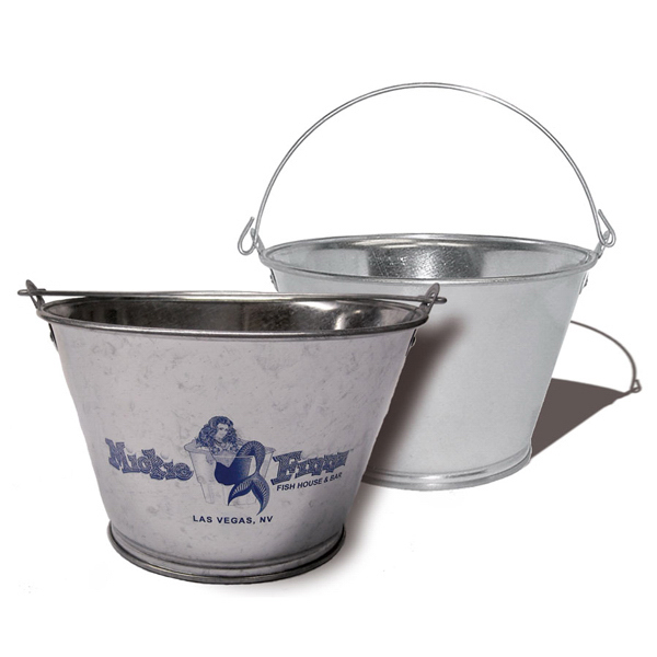 3 Qt Galvanized Steel Bucket Item 1096 Imprintitems