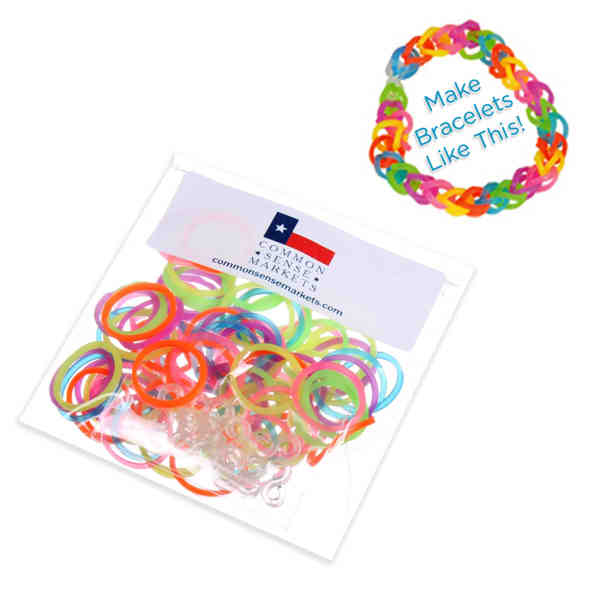 Item Lb110 Make Your Own Silicone Bracelet Kit Comes With 100 Bands And 12 Clasps