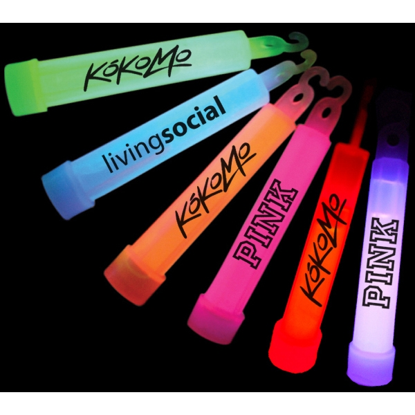"Item #GLOW PARTY 504 4"" Light Up Glow stick With Lanyard - E504"
