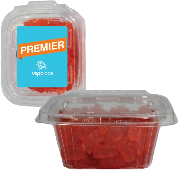 Item #SAFETSQ-BEARS Square Safe-T Fresh Container With Candy Gummy Bears