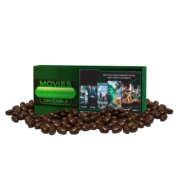 Item #Z-MOVIE-RAISIN Movie Candy Box filled with Chocolate Covered Raisins