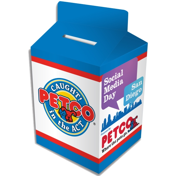 Item #MILK-BANK Milk Carton Bank - Custom Designed