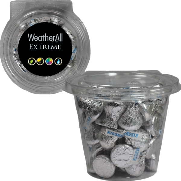 Item #SAFETRO-KISS Round Safe-T Fresh Container With Hershey Kisses Candy
