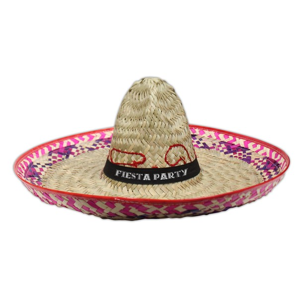c2ababba97d ... Item  HAT012 Sombrero w  White or Black Imprinted Band ...